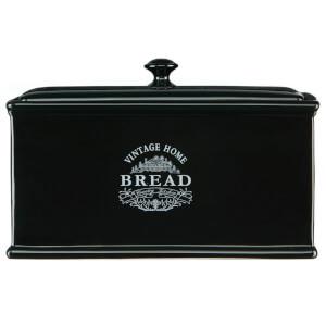 Premier Housewares Vintage Home Bread Box - Black Edition Ceramic