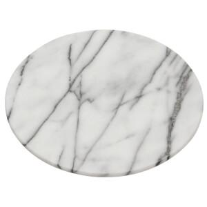Premier Housewares Lazy Susan Chopping Board - White Marble