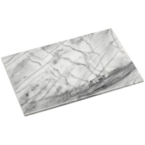 Premier Housewares Chopping Board - Large - White Marble