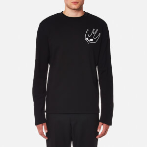 McQ Alexander McQueen Men's Skater Chest Swallow Sweatshirt - Darkest Black