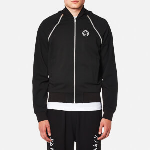 McQ Alexander McQueen Men's Zip Mix Blouson Jacket - Darkest Black