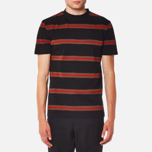 McQ Alexander McQueen Men's Multi Stripe Short Sleeve T-Shirt - Darkest Black