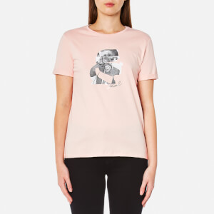Karl Lagerfeld Women's Karl Head Photo T-Shirt - Rose Smoke