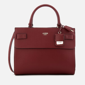 Guess Women's Cate Satchel - Wine