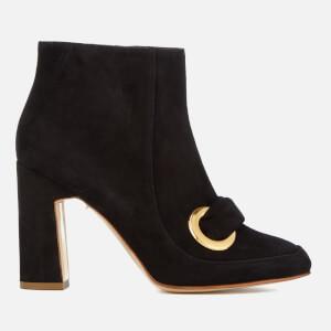 Rupert Sanderson Women's Parilla Suede Heeled Boots - Black