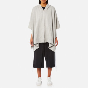 MM6 Maison Margiela Women's Oversized Open Side Hooded Top - Grey Melange