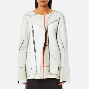 MM6 Maison Margiela Women's Perfecto Jacket Print Sweatshirt - Perfecto Jacket Print