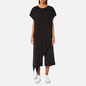 MM6 Maison Margiela Women's Asymmetric Long T-Shirt Dress - Black