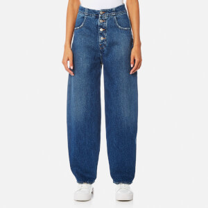 MM6 Maison Margiela Women's Denim Wide Leg Jeans - Cast
