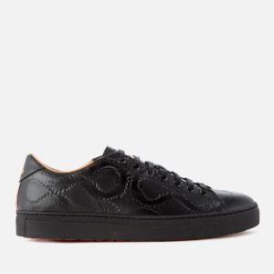 Vivienne Westwood MAN Men's Derby Leather Low Top Trainers - Black Squiggle Print