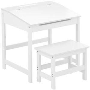 Premier Housewares Children's Desk and Stool - White