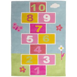 Premier Housewares Kids Hopscotch Rug - Multi Colour