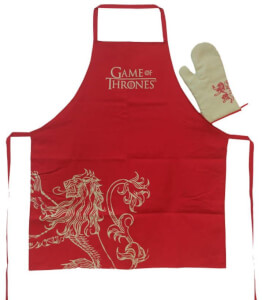 Game Of Thrones Lannister Apron and Oven Mitt Set