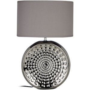 Fifty Five South Win Table Lamp - Chrome/Grey