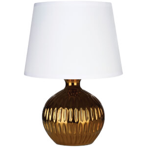 Fifty Five South Wren Table Lamp - Gold/White