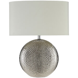 Fifty Five South Joshua Table Lamp - Silver/Ivory