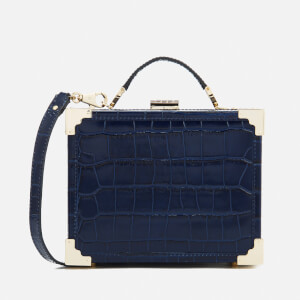 Aspinal of London Women's Mini Trunk Clutch Bag - Navy