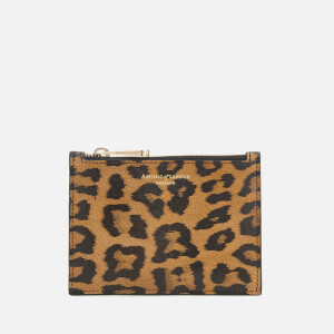 Aspinal of London Women's Essential Small Pouch Bag - Leopard/Black