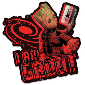 Marvel Guardians of the Galaxy I am Groot (Mix Tape) Wall Art