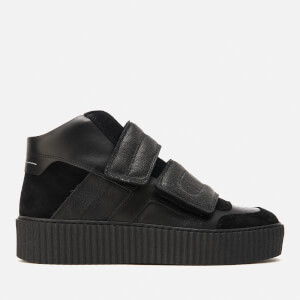 MM6 Maison Margiela Women's Double Velcro Hi-Top Trainers - Black/Black/Black