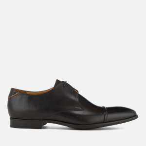 PS by Paul Smith Men's Robin Grain Leather Toe Cap Derby Shoes - Black