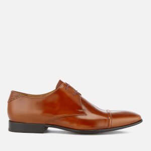 PS by Paul Smith Men's Robin High Shine Leather Toe Cap Derby Shoes - Tan