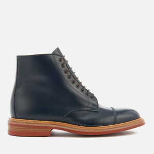 Tricker's Men's Axton Leather Toe Cap Lace Up Boots - Navy