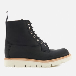 Tricker's Men's Burford Vibram Sole Waxy Lace Up Boots - Black