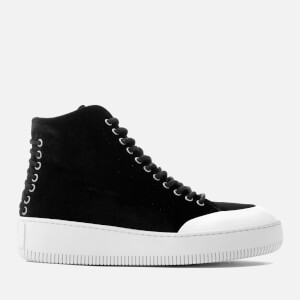 McQ Alexander McQueen Women's Netil Laced Eyelets Hi-Top Trainers - Black