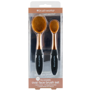 brushworks HD Oval Brushes Face Set