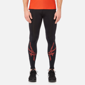 Asics Men's Asics Stripe Tights - Performance Black/Red Clay