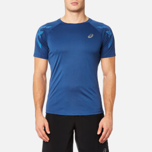 Asics Men's Asics Stripe Short Sleeve Top - Limoges Heather