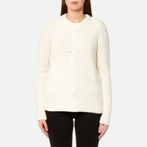GANT Women's Chevron Rib Crew Neck Jumper - Nature White