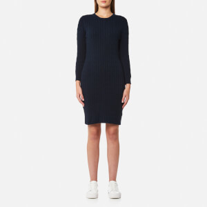 GANT Women's Stretch Cotton Cable Dress - Evening Blue