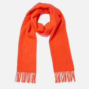 GANT Women's Solid Lambswool Woven Scarf - Fiesta Orange