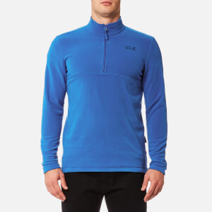 Jack Wolfskin Men's Gecko 1/4 Zip Fleece - Coastal Blue