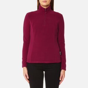 Jack Wolfskin Women's Gecko 1/4 Zip Fleece - Dark Ruby