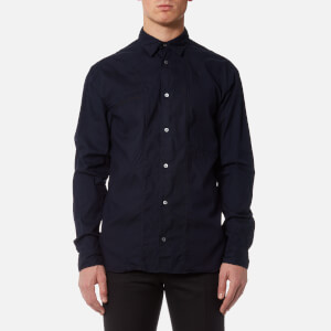 McQ Alexander McQueen Men's Darkbrook Micro Text Shirt - Indigo