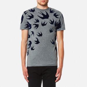 McQ Alexander McQueen Men's Swallow Swarm Pigment T-Shirt - Stone Melange