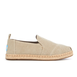 TOMS Women's Deconstructed Alpagarta Washed Canvas Espadrilles - Desert Taupe