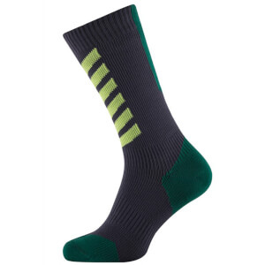 Sealskinz MTB Mid Mid Socks with Hydrostop - Anthracite/Leaf
