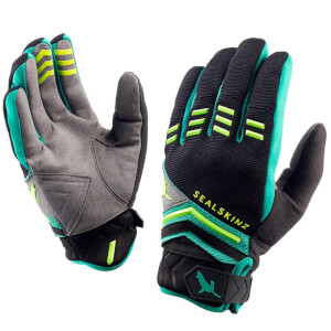 Sealskinz Dragon Eye MTB Gloves - Black/Green