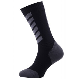 Sealskinz MTB Mid Mid Socks with Hydrostop - Black/Anthracite
