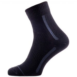 Sealskinz Road Max Ankle Socks - Black/Grey