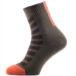 Sealskinz MTB Ankle Socks with Hydrostop - Olive/Orange