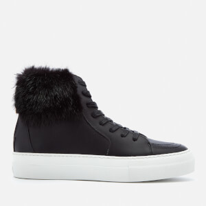 Buscemi Women's 140MM Fur Hi-Top Trainers - Black/Black