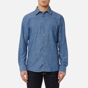 A.P.C. Men's Chemise 87 Shirt - Indigo Delave