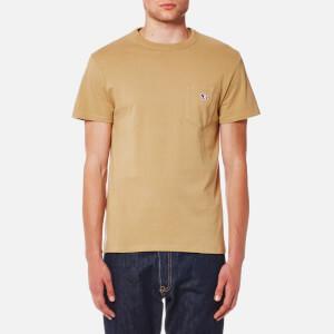 Maison Kitsune Men's Tricolor Fox Patch T-Shirt - Camel