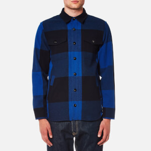Maison Kitsuné Men's Large Check John Overshirt - Dark Navy