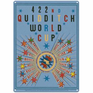 Grande Affiche en Métal Coupe du Monde de Quidditch Harry Potter